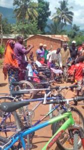 Verteilung der Fahrräder